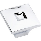 Modena Collection 1-3/16'' W Large Modern Square Cabinet Knob in Polished Chrome