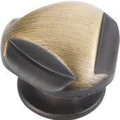Chesapeake Collection 1-5/16'' Diameter Cabinet Knob in Antique Brushed Satin Brass