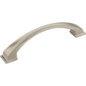Roman Collection 6-1/4'' W Decorative Cabinet Pull, 128 mm (5'') Center to Center, Satin Nickel, 6-1/4'' W x 1-7/8'' D x 1-7/8'' H