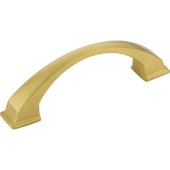 Roman Collection 4-15/16'' W Decorative Cabinet Pull, 96 mm (3-3/4'') Center to Center, Brushed Gold, 4-15/16'' W x 1-7/16'' D x 1-7/16'' H