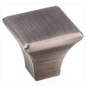 Marlo Collection 1-1/8'' W Medium Square Decorative Cabinet Knob in Brushed Pewter
