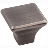 Marlo Collection 1-1/4'' W Large Square Decorative Cabinet Knob in Brushed Pewter