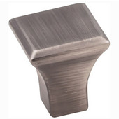 Marlo Collection 7/8'' W Small Square Decorative Cabinet Knob in Brushed Pewter