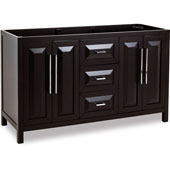Cade Contempo Bathroom Double Vanity, Base Only, Black Finish, 59''W x 21-1/2'' D x 35-3/16''H
