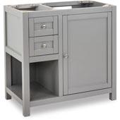 Astoria Modern Bathroom Vanity, Base Only, Grey Finish, 35-1/2''W x 21-3/4''D x 35''H