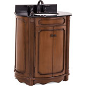 Tesla Bath Elements Vanity with Granite Top & Sink, Walnut Painted, 32''W x 21''D x 35-3/4''H