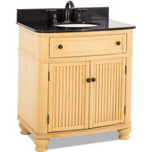Compton Bath Elements Vanity with Granite Top & Sink, Buttercream Painted, 32''W x 23''D x 35''H