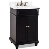 Douglas Bath Elements Vanity with Marble Top & Sink, Painted Black, 24''W x 22''D x 36''H