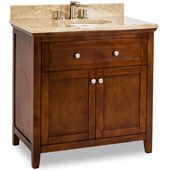 Chatham Shaker Vanity with Marble Top & Sink, Chocolate, 36''W x 22''D x 36''H