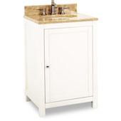 Astoria Modern Vanity with Marble Top & Sink, Cream White, 24''W x 22''D x 36''H