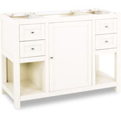 Astoria Modern Vanity, Cream White, 47-1/2''W x 21-3/4''D x 35''H