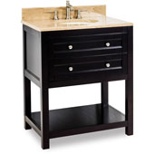 Astoria Modern Vanity with Marble Top & Sink, Espresso, 30''W x 22''D x 36''H