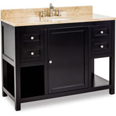 Astoria Modern Vanity with Marble Top & Sink, Espresso, 48''W x 22''D x 36''H