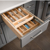 17-1/2''W Nested Double Cutlery Drawer, 4-3/16''H, with Full Extension 100lb Slides, Preassembled for 21'' Base Cabinet