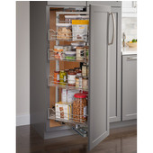 9-7/8''W Swingout Wire Pantry Pullout, with Soft Close Slides, 61-7/16'' - 74-13/16''H