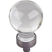 Harlow Collection 1-1/16'' Diameter Small Glass Sphere Decorative Cabinet Knob in Brushed Pewter