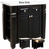 Loft Kitchen Island Base, Aged Black, 34'' W x 22'' D x 34-1/4''H