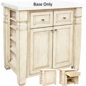 Loft Kitchen Island Base, French White, 34'' W x 22'' D x 34-1/4''H