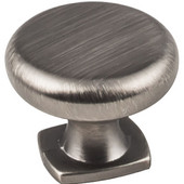 Belcastel 1 Collection 1-3/8'' Diameter Forged Look Flat Bottom Cabinet Knob in Brushed Pewter, 1-3/8'' Diameter x 1-1/16''D