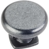 Belcastel 1 Collection 1-3/8'' Diameter Forged Look Flat Bottom Cabinet Knob in Gun Metal