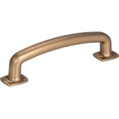 Belcastel 1 Collection 4-5/8'' W Forged Look Flat Bottom Cabinet Pull in Satin Bronze, Center to Center: 96mm (3-3/4'')