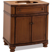 Compton Painted Walnut Bath Elements Vanity, Base Only, 30''W x 21-1/2''D x 34-1/4''H