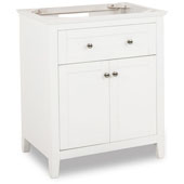 Chatham Shaker Bathroom Vanity, Base Only, Painted White Finish, 29-11/16''W x 21-7/8''D x 35''H