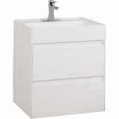 24'' Costrel Modern Wall Mounted Vanity In White, 23-5/8''W X 18-5/16''D X 25-13-16''H