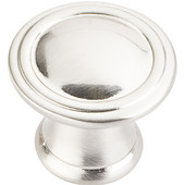 Cordova Collection 1-3/16'' Diameter Round Cabinet Knob in Satin Nickel