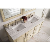 60'' Double Top, 3 CM Arctic Fall Solid Surface, w/Sink