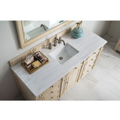 60'' Single Top, 3 CM Arctic Fall Solid Surface, w/Sink