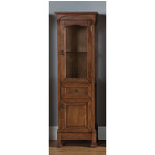 Brookfield Linen Cabinet, Country Oak Finish, 20-1/2''W x 16-1/4''D x 65''H