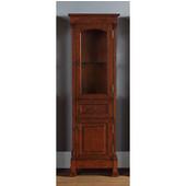 Brookfield Linen Cabinet, Warm Cherry Finish, 20-1/2''W x 16-1/4''D x 65''H
