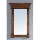 Brookfield 26'' Mirror, Country Oak Finish, 26''W x 3-3/4''D x 41-1/2''H