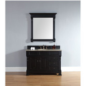 Brookfield 48'' Single Cabinet w/ Drawers, Antique Black, No Countertop