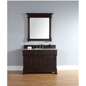 Brookfield 48'' Single Cabinet w/ Drawers, Burnished Mahogany, No Countertop