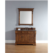 Brookfield 48'' Single Cabinet w/ Drawers, Country Oak, No Countertop