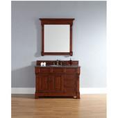 Brookfield 48'' Single Cabinet w/ Drawers, Warm Cherry, No Countertop