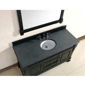 Brookfield 60'' Antique Black Single Vanity with 2cm Absolute Black Rustic Stone Top