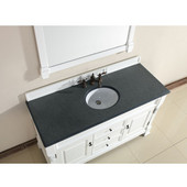 Brookfield 60'' Cottage White Single Vanity with 2cm Absolute Black Rustic Stone Top