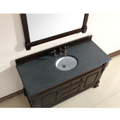 Brookfield 60'' Burnished Mahogany Single Vanity with 2cm Absolute Black Rustic Stone Top