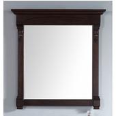 Brookfield 29-1/2'' Mirror, Burnished Mahogany Finish, 29-1/2''W x 3-3/4''D x 41-1/2''H
