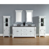 Brookfield 72'' Double Cabinet, Cottage White, No Countertop