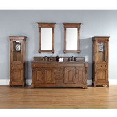Brookfield 72'' Double Cabinet, Country Oak, No Countertop