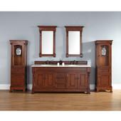Brookfield 72'' Double Cabinet, Warm Cherry, No Countertop