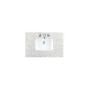 Brookfield 36''W Bright White Single Sink Bath Vanity with 3cm (1-1/5'') Thick Eternal Serena Quartz Top