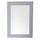 Weston 29'' Rectangular Mirror In Silver Gray, 29''W x 3/4''D x 40''H