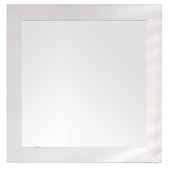 Weston 40'' Rectangular Mirror In Bright White, 40''W x 3/4''D x 40''H