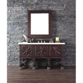Balmoral 60'' Antique Walnut Single Vanity with 4cm Galala Beige Marble Stone Top