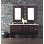 Balmoral 72'' Double Vanity Cabinet, Antique Walnut, No Countertop